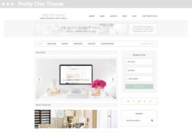 wordpress webshop pretty chic thema