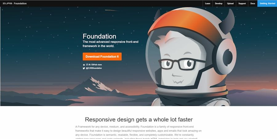 CSS framework foundation om een responsive website te maken