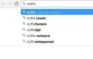 zoekterm in google zoeken