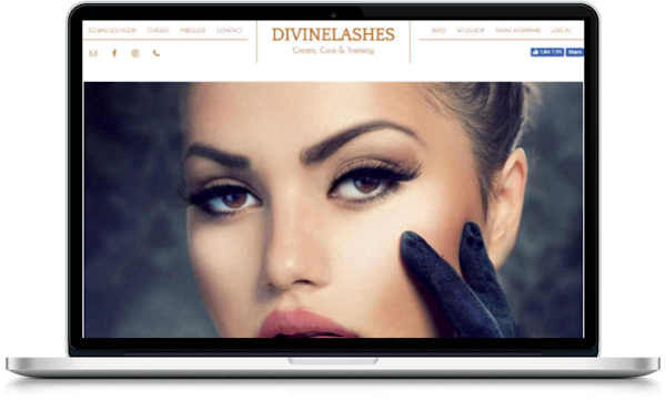 portfolio webdesigner GIlles :divinelashes.nl