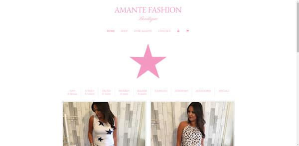 webshop amante fashion gemaakt door meijwebdesign