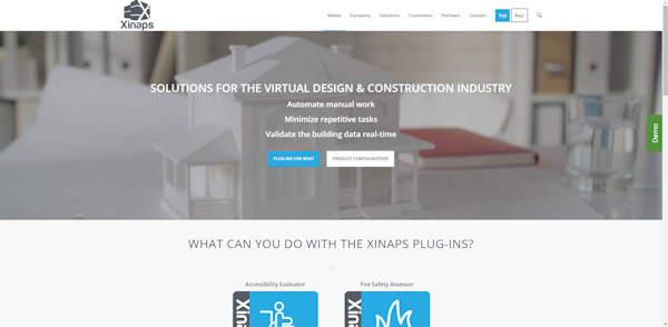 website xinaps gemaakt door meij webdesign