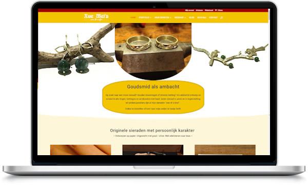portfolio webdesigner GIlles :xuemei.nl