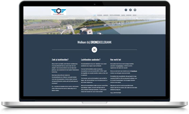 website dronebeeldbank gemaakt door meij webdesign