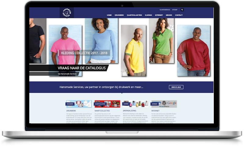 website hansmadeservice aangepast door meij webdesign