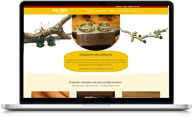 website xuemei gemaakt door meij webdesign