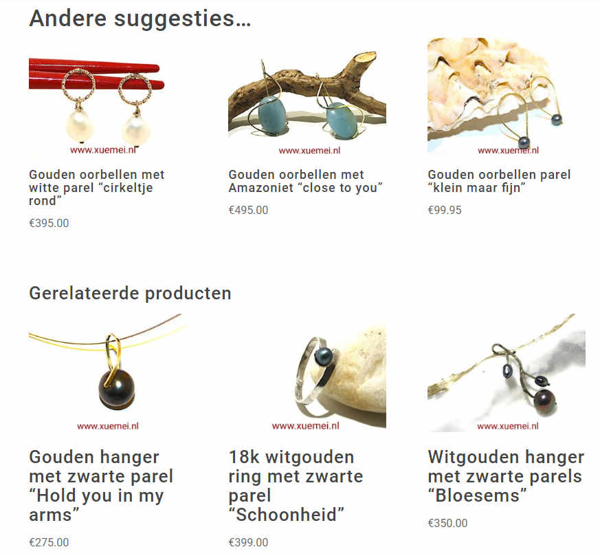 woocommerce upsells is vertaald als andere suggesties...